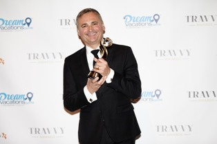 This picture shows Mr. Michael Gigl from the Austrian Tourism Office at the Travvy Awards 2016, Copyright ANTO