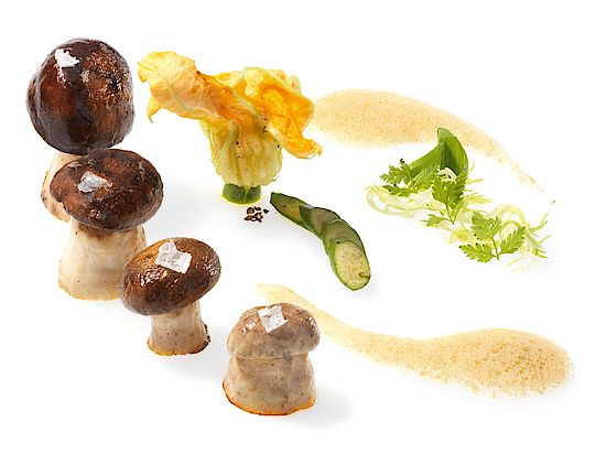 A picture shows Sauteed Porcini