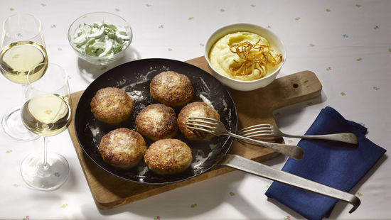 Rissoles with white wine