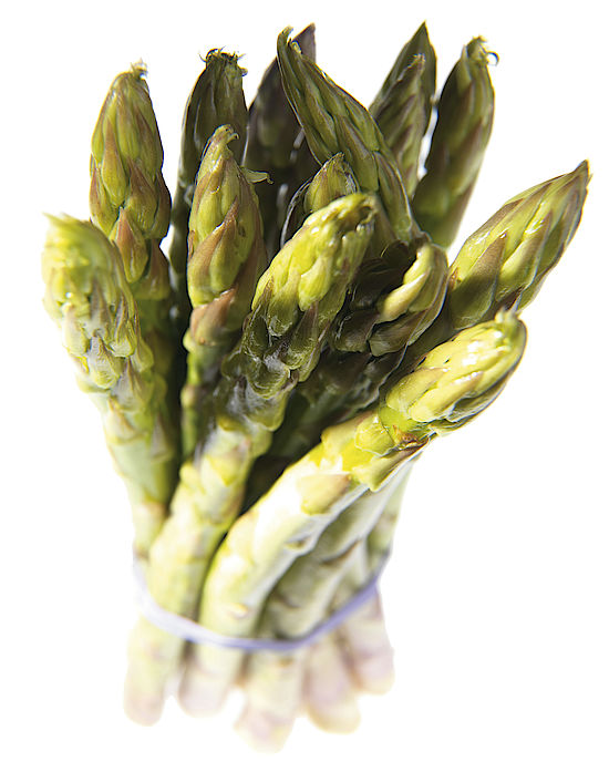 A picture shows asparagus