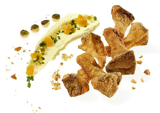 A picture shows Viennese Fried Porcini