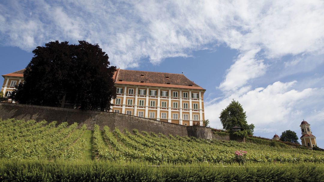 The picture shows Schloss Stainz
