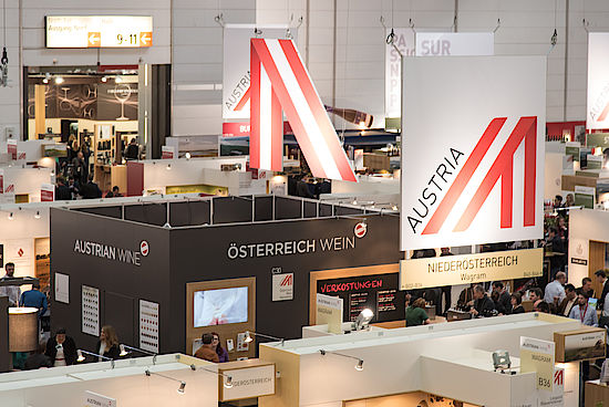 A picture shows the ProWein fair
