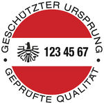 the red-white-red banderole which is displayed on the top of every bottle of Austrian Sekt g.U.
