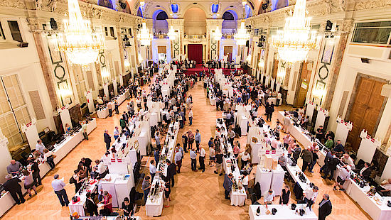 A picture shows impressions from the VieVinum wine fair