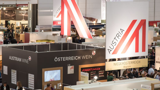 Austrian Wine Marketing booth at a fair