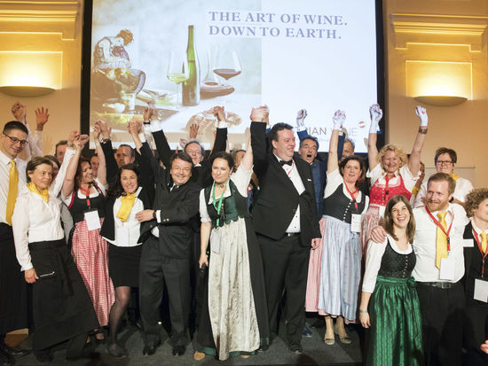 A picture shows the Opening Ceremony of the European Sommelier Championship