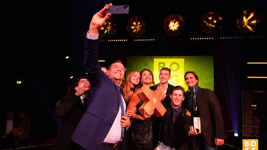 The picture shows the winners of the best of swiss gastro Award