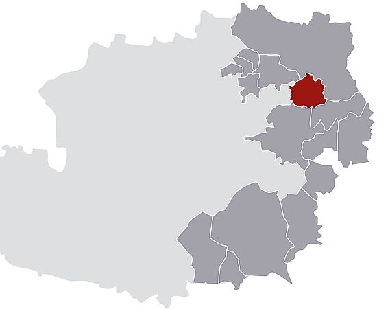The picture shows the wine growing region of Vienna.