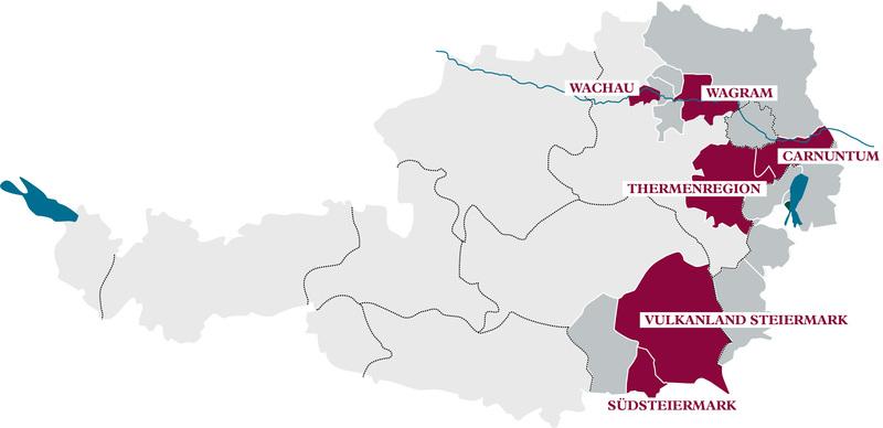 Austrian Wine A Taste Of Culture Facts Figures Austria - Austria on a world map