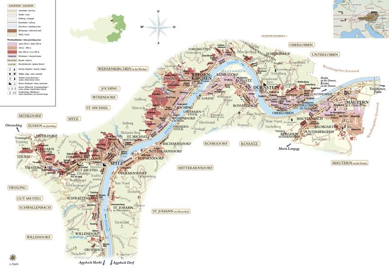 Wachau Karte Donau.Wachau Austrian Wine
